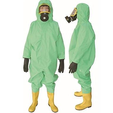 HZTWS Ropa de protección química con ácido de capucha ...