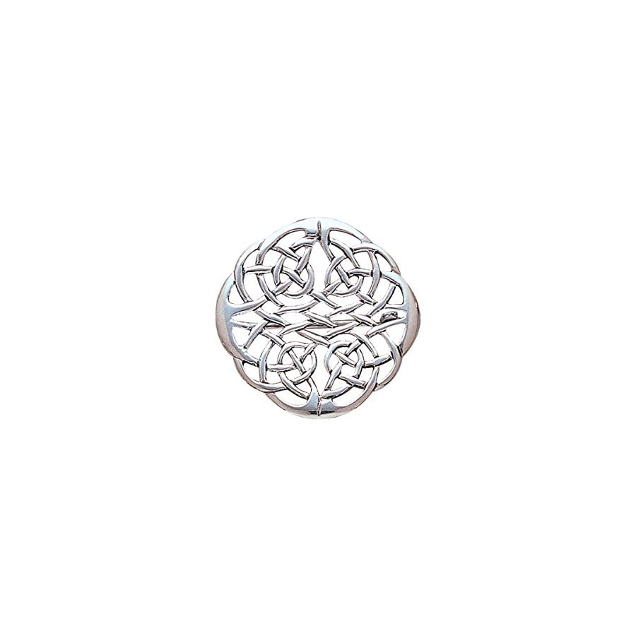 Jewelry Trends Sterling Silver Round Elegant Celtic Knot Work Brooch Pin