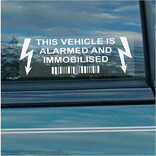10 x Vehicle Alarm and Immobiliser Warning Security Window Stickers