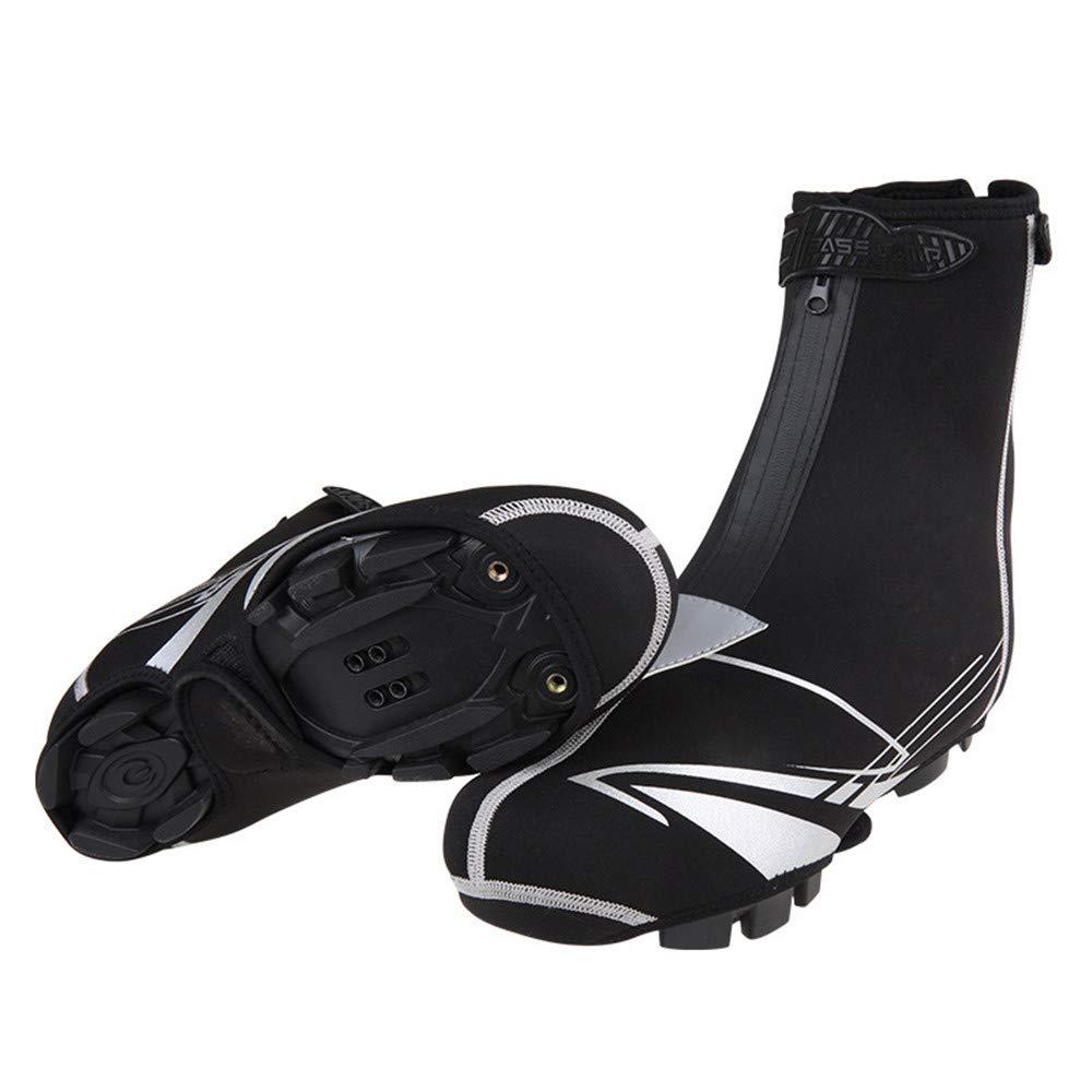 Couvre chaussures Couverture de chaussures de vé lo, Couvre-chaussures de vé lo ré flé chissants impermé ables, Coupe-vent de bicyclette recouvre la pluie Botte de protection Protè ge-pieds Guê tres chaussur