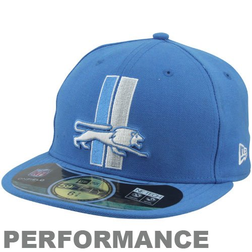 New Era Men's Detroit Lions On Field Classic 59FIFTY? Football Structured Fitted Hat 714