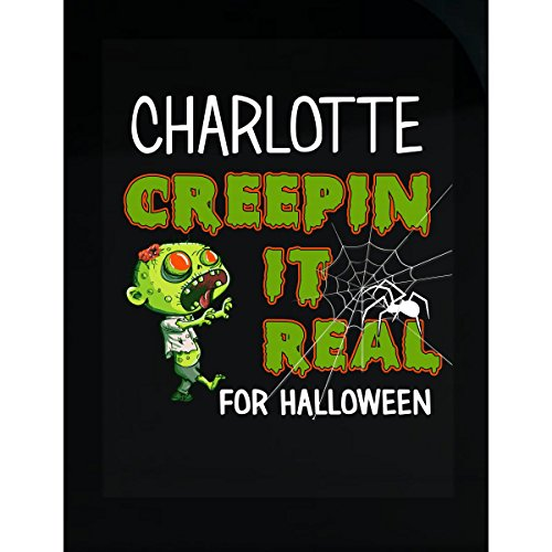 Prints Express Charlotte Creepin It Real Funny Halloween Costume Gift - Sticker]()