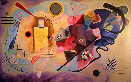 Wassily Kandinsky Artwork - Wassily Kandinsky - Yellow Red Blue, Canvas Art Print by YCC, Size 18x24, Non-Canvas Poster Print