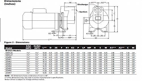 DAYTON 2ZXR1 Centrifugal Pump 3/4hp 3 Ph 208-230/460V