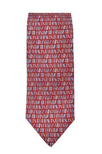 Salvatore Ferragamo Men's Red Book 100% Silk Neck Tie
