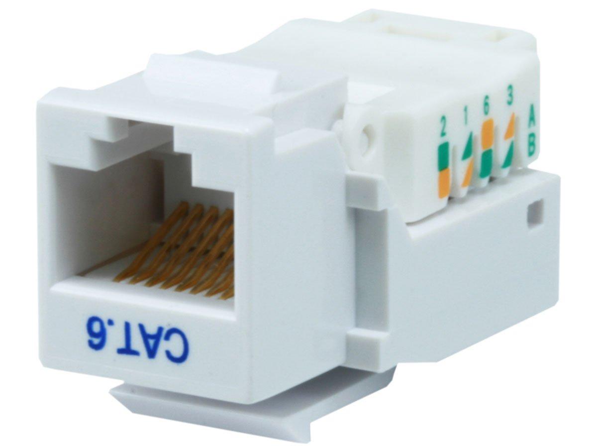 Amazon.com: Monoprice Cat6 RJ-45 Toolless Keystone, White (101044):  Computers & Accessories