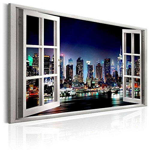 canvas prints Wall Art Paintings New York City Open Window artwork and Framed artwork Ready to Hang for Home Decorations Wall Decor by youkiswall art