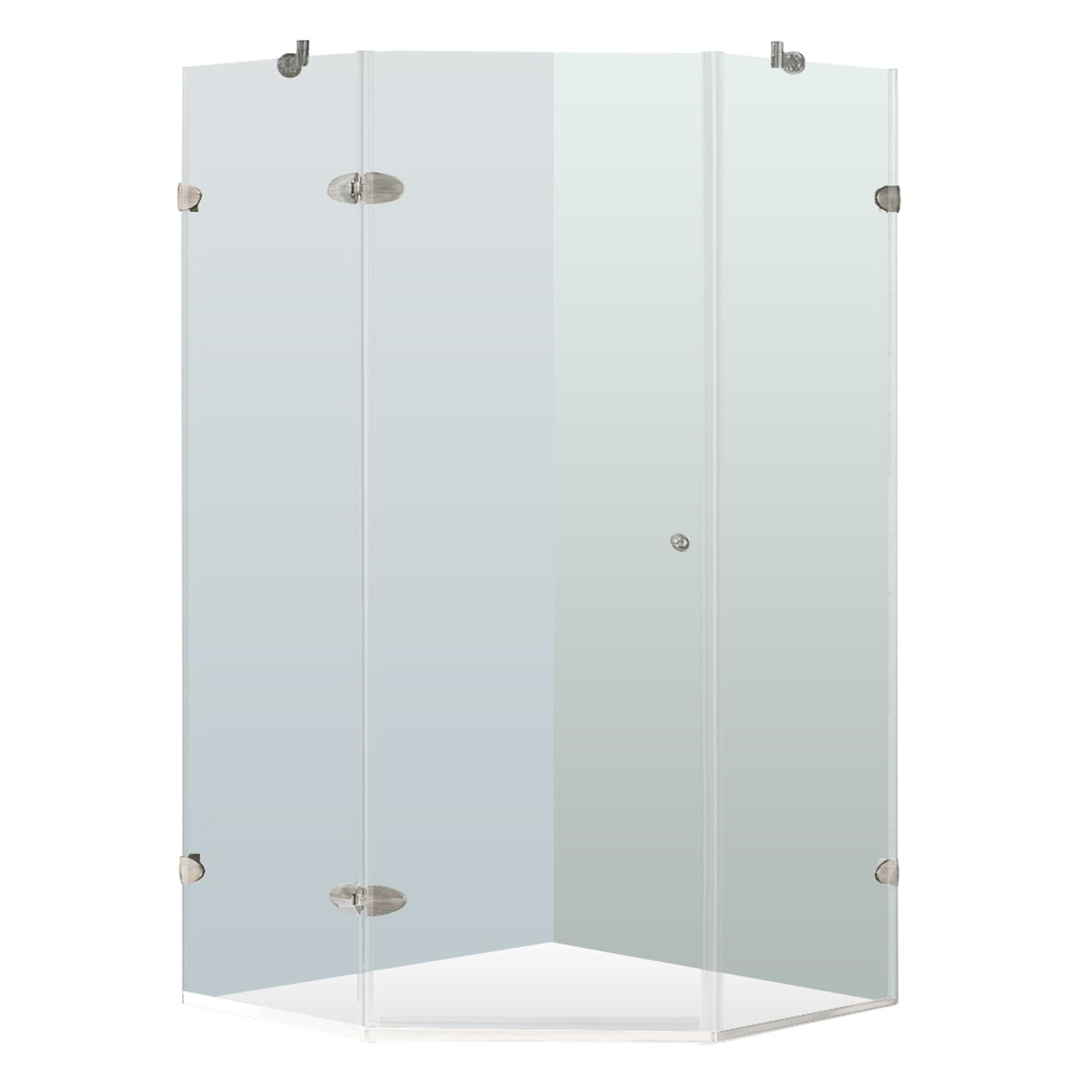 VIGO Verona 38 x 38-in. Frameless Neo-Angle Shower Enclosure with ...