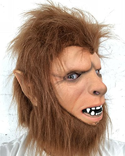 Rubber Johnnies Teen Wolf Man Mask, Adult, One Size,Werewolf for $<!--$18.97-->