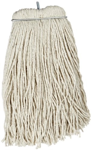 Impact 12116 Layflat Screw Type Cut End Cotton Wet Mop Head, Regular, 16 oz, White (Case of 12) by Impact Products