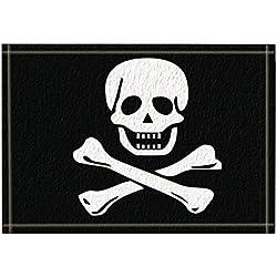 NYMB Pirate Flag Bath Curtain, Polyester Fabric Waterproof Bath Rugs, Non-Slip Doormat Floor Entryways Outdoor Indoor Front Door Mat, Kids Bath Mat, 15.7x23.6in, Bathroom Accessories