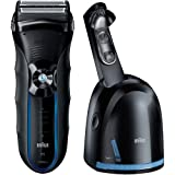 Braun WATERPROOF DUAL VOLTAGE Cordless Shaver Triple Action Cutting and FreeFloat System with SensoFoil Technology, Precision Long Hair Trimmer and 100% Waterproof, All NEW Clean & Renew System Included