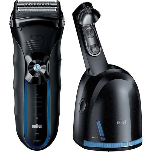 Braun WATERPROOF DUAL VOLTAGE Cordless Shaver Triple Action Cutting and FreeFloat System with SensoFoil Technology, Precision Long Hair Trimmer and 100% Waterproof, All NEW Clean & Renew System - Technical Series Trimmer