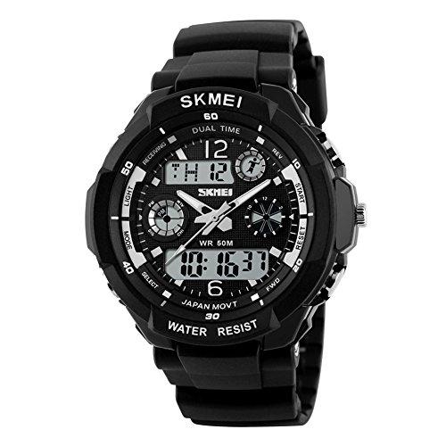 SKMEI S-Shock Sports Waterproof LED Digital Watch (Black) - 5