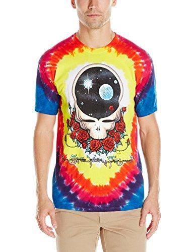 Liquid Blue Men's Grateful Dead Space Your Face Short Sleeve T-Shirt,Multi,X-Large]()
