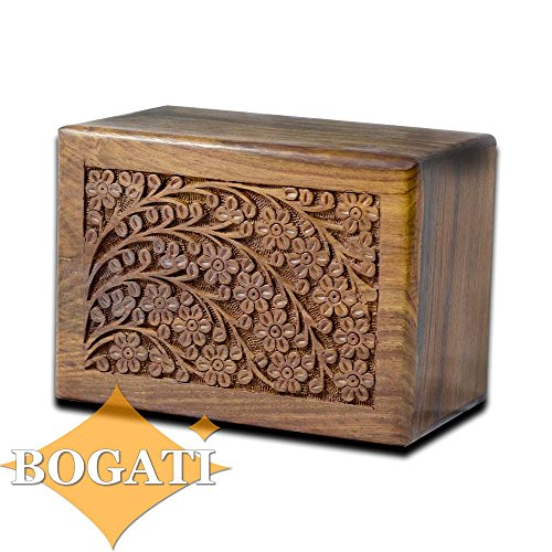 Tree of Life Hand-Carved Rosewood Urn Box - Large