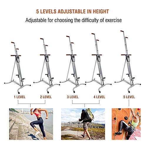 Yosooo Home Climber Machine, Adjustable Folding Heavy Duty Steel Vertical Full Body Workout Fitness Climber Climbing Cardio Exercise Machine Home Gym Stepper by Yosooo (Image #6)