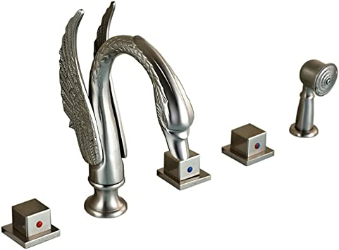 Votamuta Nickel Brushed Bathroom Swan