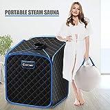 COSTWAY Portable Folding Steam Sauna Tent, Home Spa