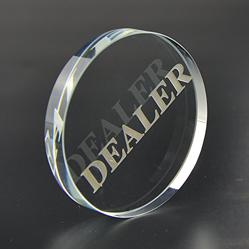 Smartdealspro Transparent Dealer Poker Buttons