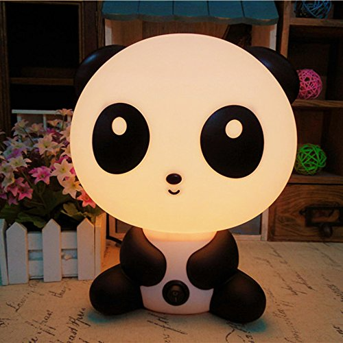 [Rainbowkids Lovely Baby Kids Children Bedroom Night Sleeping Light Bear Dog Rabbit Panda Cartoon Animal Lamp Best For Boys Girls Gifts EU Plug] (Ladybug Soft Costumes)