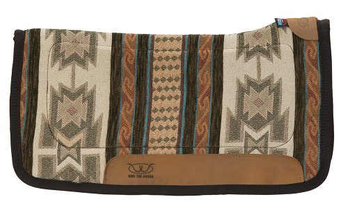 Western Tack (Weaver Leather All Purpose Contoured Saddle Pad with Tacky-Tack Bottom, Coffee)