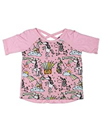 Miss Popular Girls Unicorn Graphic Casual Top
