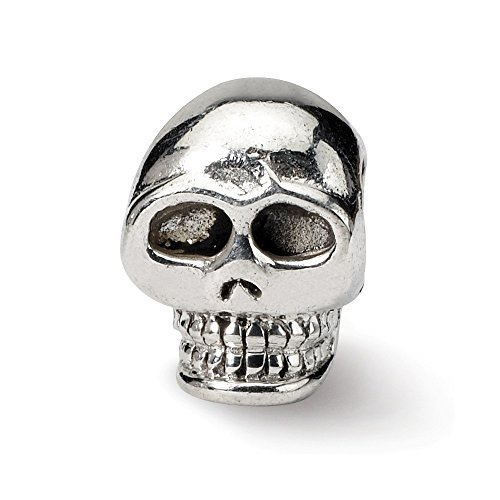 925 Sterling Silver Charm For Bracelet Skull Bead Holiday Celebration Fine Jewelry Gifts For Women For Her -