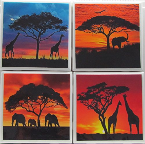 Personalized Coasters - African Women - Set of 4-4