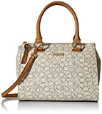 Calvin Klein Top Zip Hudson Monogram Satchel