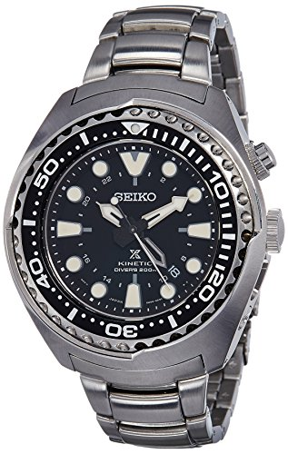 Watch Seiko Prospex SUN019 Kinetic GMT Divers - Kinetic Divers Watch