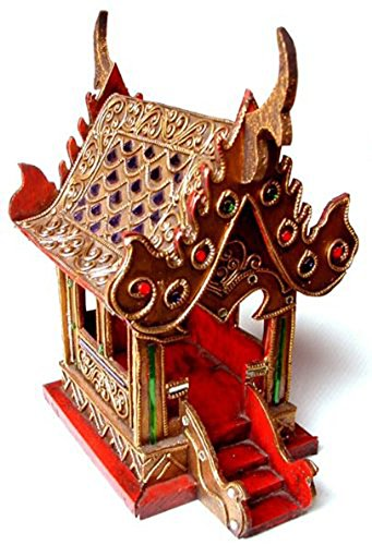 Thai Spirit House SMALL6 Samoraphum Buddhist Wood Carving by Thai Spirit House
