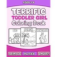 Terrific bebé Girls libro para colorear: Grande preschooler Actividad libro para niños de edad 1-3de impresión para Fun Aprendizaje Temprano (Actividad educativa de colorear Libros) (Volumen 1)