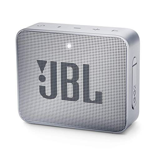 JBL GO 2 Portable Bluetooth Waterproof Speaker, Grey, 4.3 x