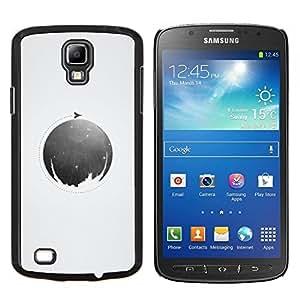 LECELL--Funda protectora / Cubierta / Piel For Samsung Galaxy S4 Active i9295 -- Luna Círculo --