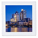 3dRose Danita Delimont - Cities - Netherlands, Amsterdam. Omval Commercial District, office towers - 14x14 inch quilt square (qs_277775_5)