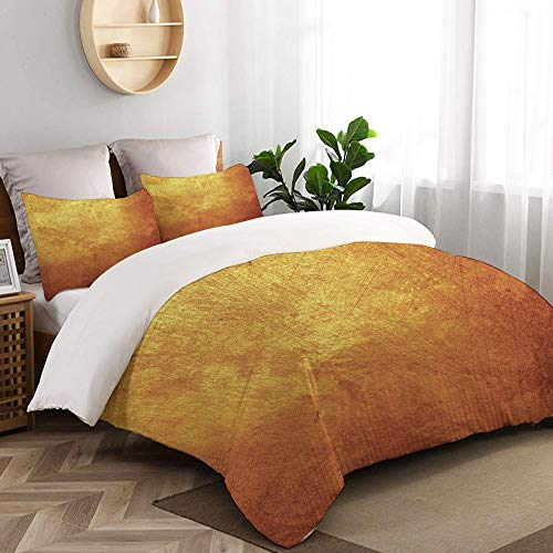CANCAKA Gray Bronze Gold Metal Yellow Golden Dark Old Copper Rough Home Bedding Decorative Custom Design 3 PC Duvet Cover Set King