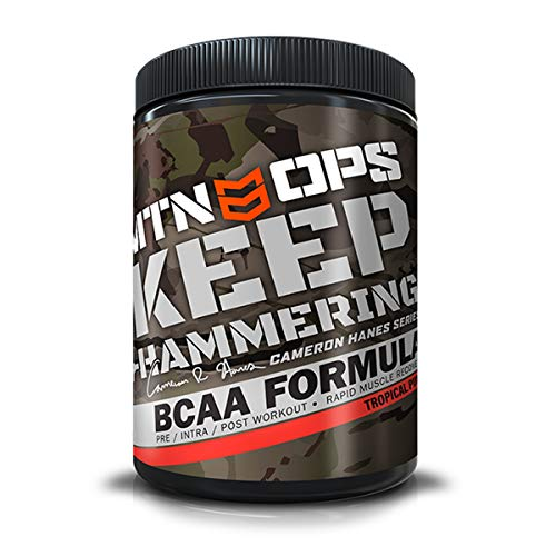 MTN OPS Cameron Hanes Keep Hammering BCAA 2:1:1 Muscle Building & Recovery Supplement - 30 Servings, Tropical Punch
