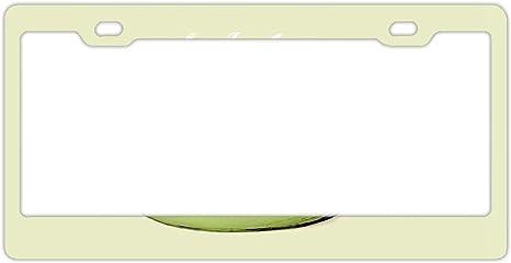 FunnyLpopoiamef Marco de matrícula para Mujer, Marcos de matrícula Personalizados, Soporte de matrícula, Bonito Marco Decorativo para matrícula, Sloth Coffee: Amazon.es: Deportes y aire libre