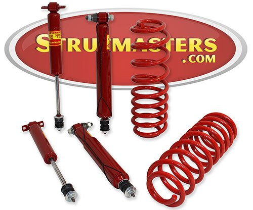 Strutmasters Rear Air Suspension Conversion Kit with 4 Shocks for 1990-2002 Lincoln Town Car