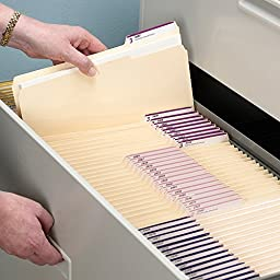 Smead Manila File Folder, 1/3-Cut Tab, Letter Size, Manila, 100 per Box