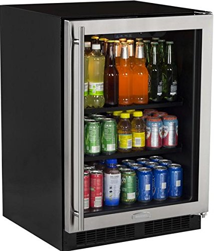 Marvel ML24BCG0RS Beverage Center, Glass Door, Right Hinge, 24-Inch, Stainless Steel ()