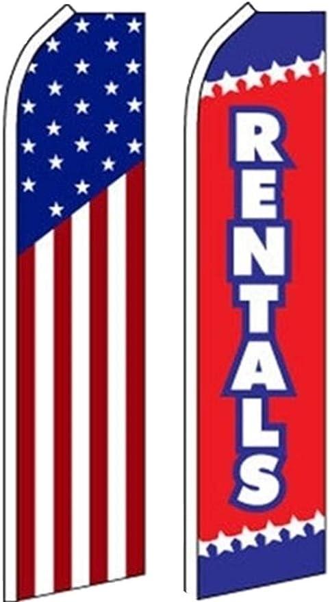 ANTIQUES Swooper Half Curve Advertising PREMIUM WIDE Flag