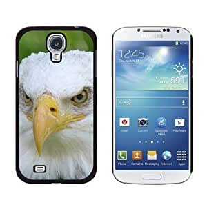 New style Bald Eagle Staring Raptor Bird of Prey Snap-On Hard Protective Case for Samsung Galaxy S4 - Non-Retail Packaging - Black