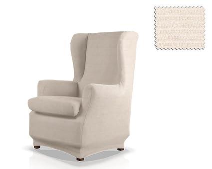 JM Textil Funda de sillón orejero elástica Simba Tamaño 1 Plaza (Estándar), Color 00
