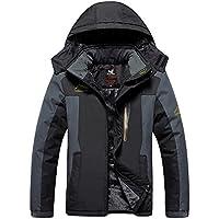 c2eee26c86d HOW ON Men s Snow Jacket Windproof Waterproof Ski Jackets Winter Hooded  Mountain Fleece Outwear
