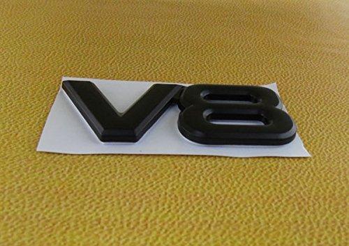SKS Distribution/® V8 Auto Car Emblems Accessories BLACK Emblem 3D Badge 3M Adhesive
