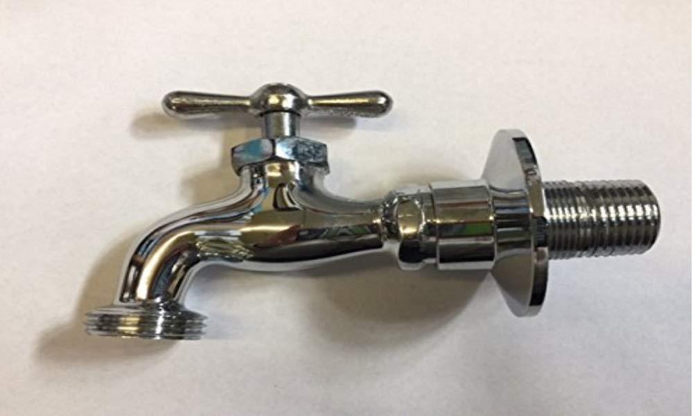 D&L Chrome Plated Brass Hose Bibbs 1/2 IPS Male Adjustable