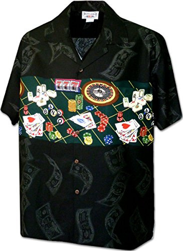 Fabulous Las Vegas Men's Cotton Shirt 3862Black L