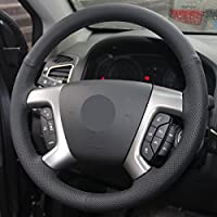 Leather Type Steering Wheel Eiseng DIY Genuine Leather Steering Wheel Cover for 2009-2017 Chevrolet Traverse Chevrolet Express 2007-2014 Tahoe Suburban Avalanche Silverado Silverado 2500 3500 Sew